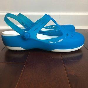 CROCS Carlie Cutout Clog Mule Ocean Blue W10